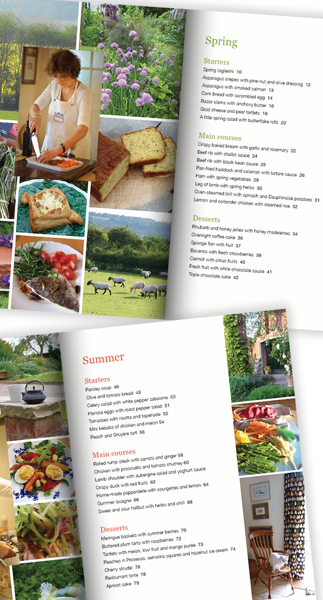 Cooking with Class cookbook pages
